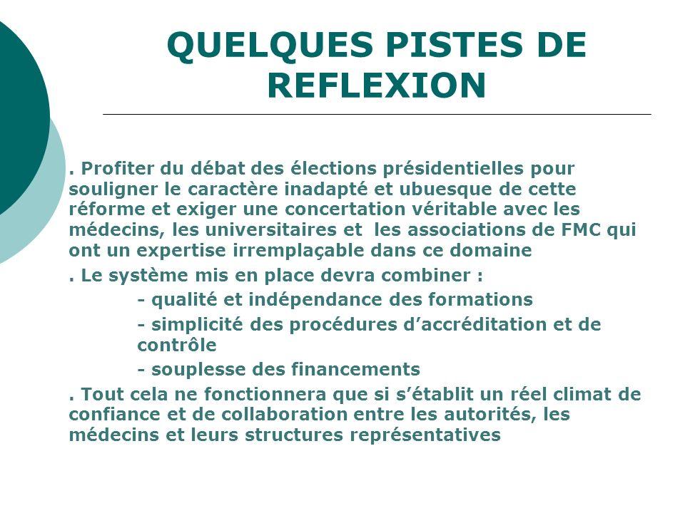 QUELQUES PISTES DE REFLEXION. Profiter du débat des élections présidentielles pour souligner le caractère inadapté et ubuesque de cette réforme et exi