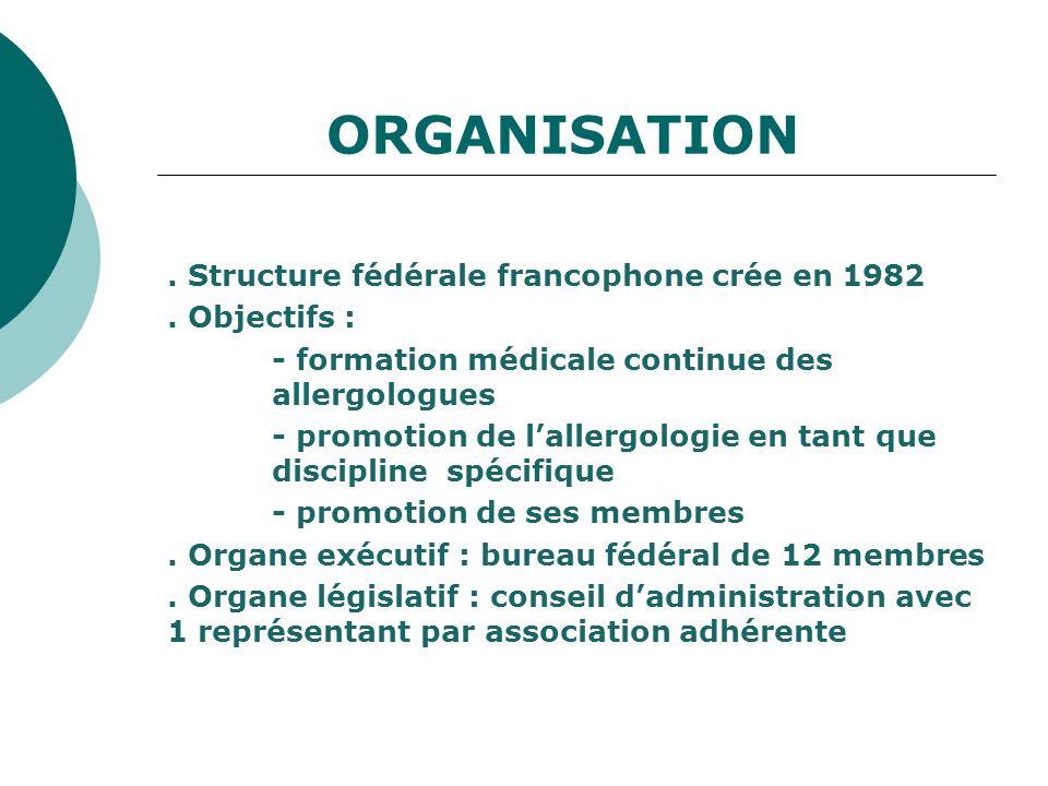 ORGANISATION 48 associations adhérentes - 31 associations métropolitaines - 3 associations DOM-TOM - 14 associations francophones - 18 pays adhérents.