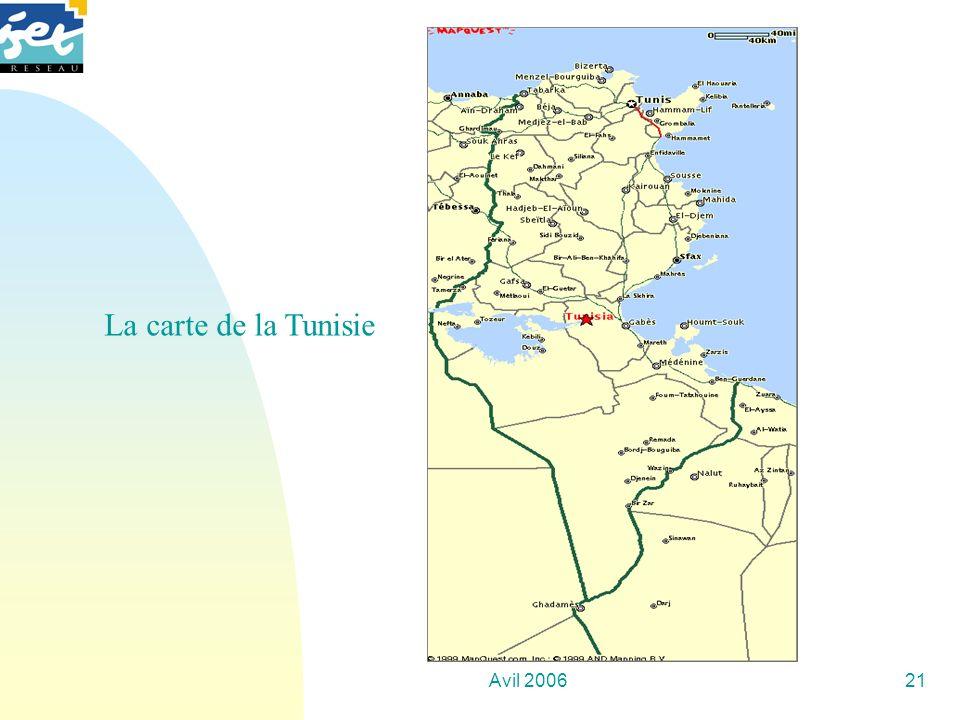 Avil 200621 La carte de la Tunisie