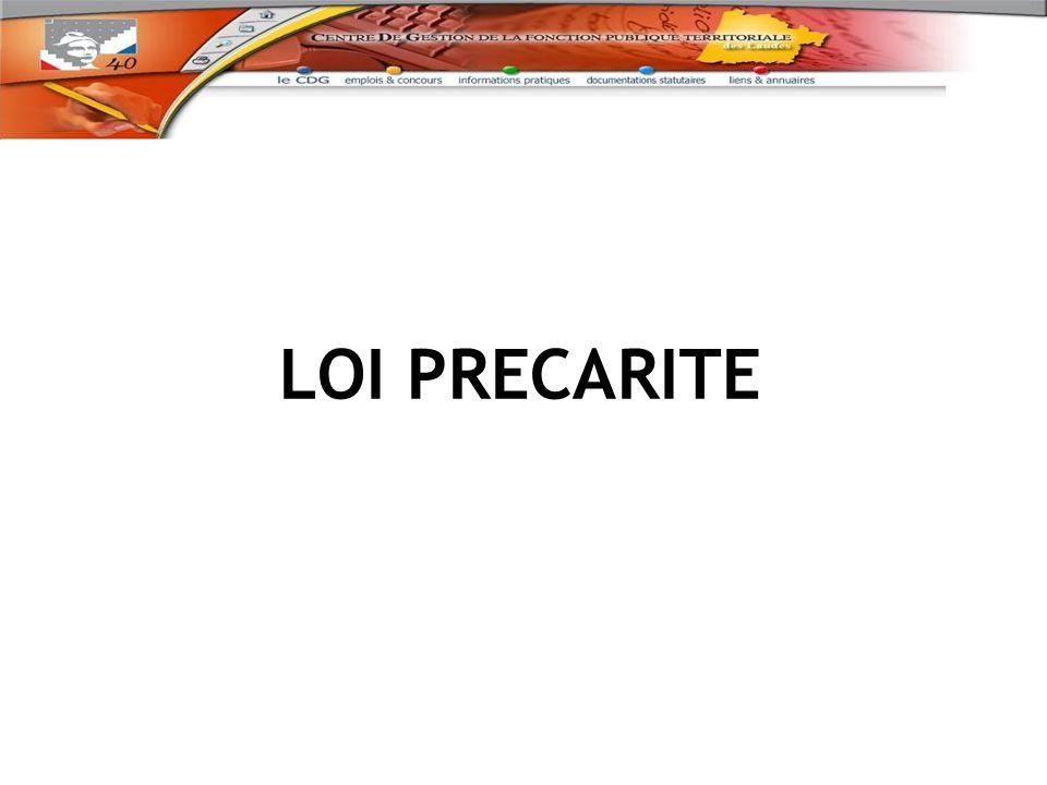 LOI PRECARITE