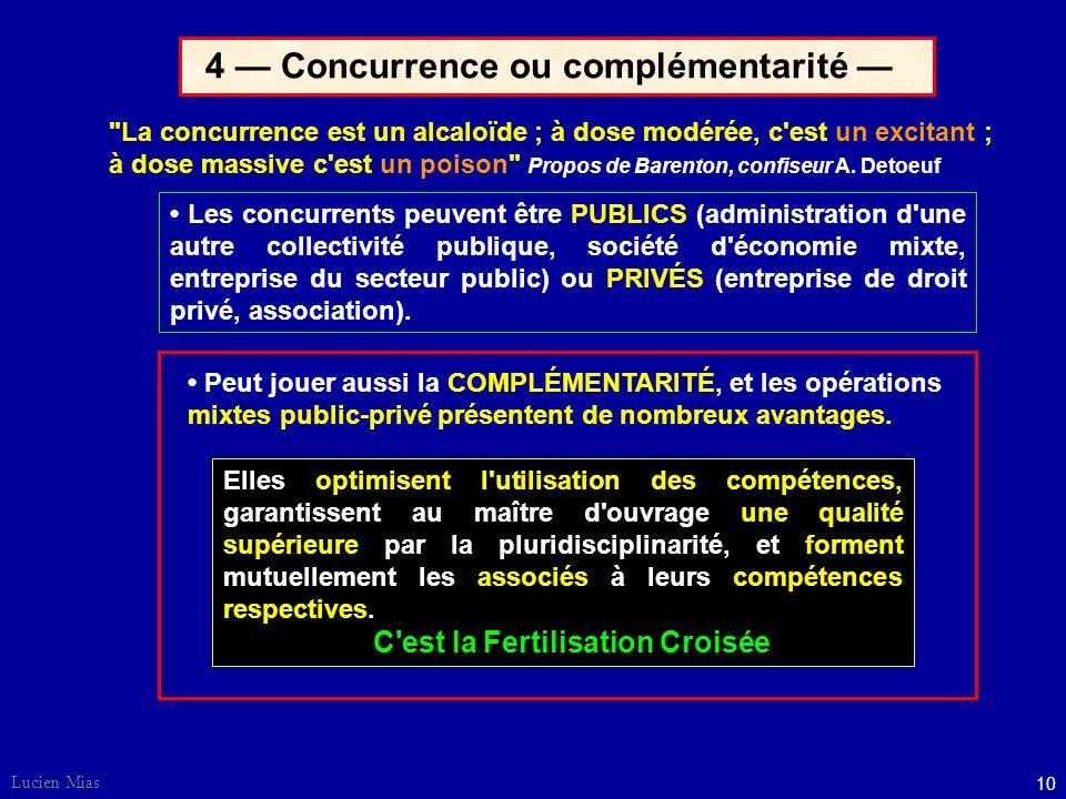 9 Lucien Mias 3 La demande et l'offre Schéma d'après P. Larcher, responsable marketing Arianespace La PRODUCTION est DÉPENDANTE de la VENTE Les ÉTUDES