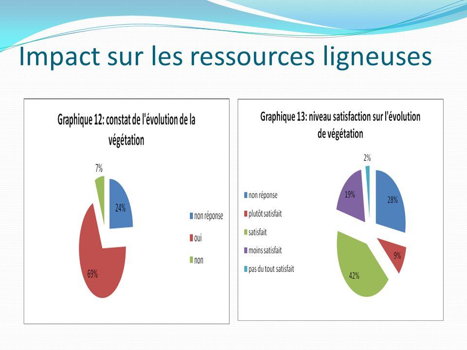 Impact sur les ressources ligneuses