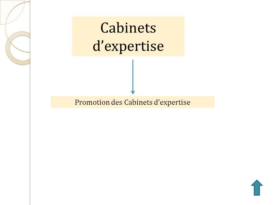 Cabinets dexpertise Promotion des Cabinets dexpertise