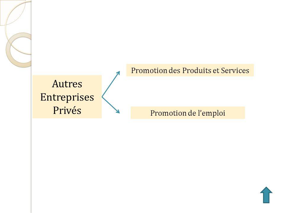 Autres Entreprises Privés Promotion des Produits et Services Promotion de lemploi