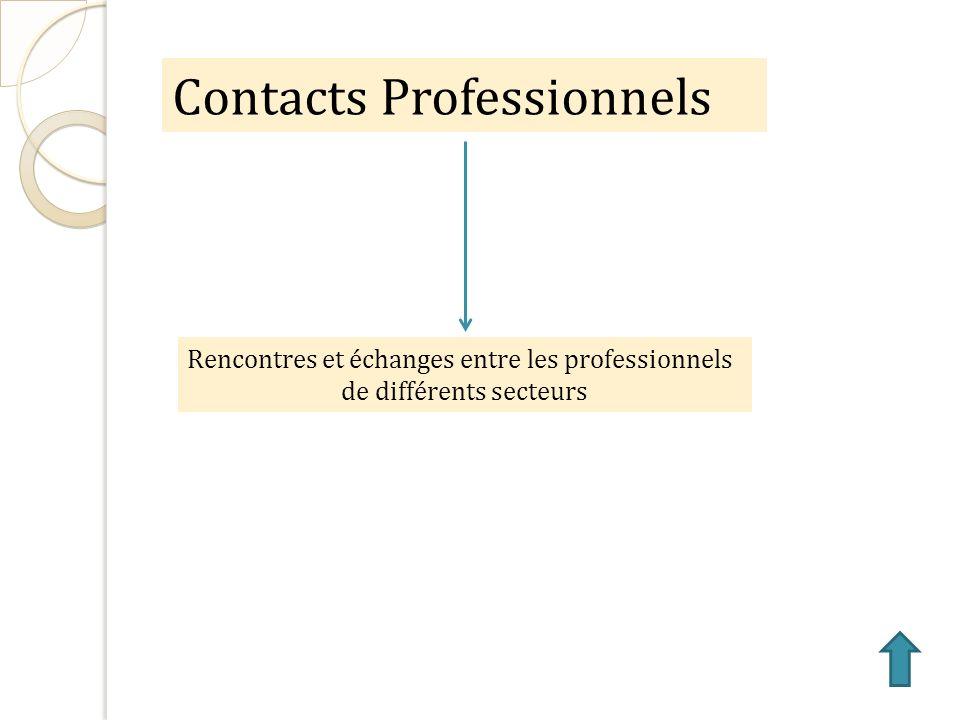 Contacts Professionnels Rencontres et échanges entre les professionnels de différents secteurs