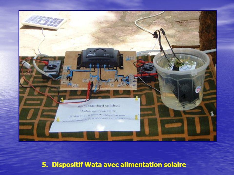 5. Dispositif Wata avec alimentation solaire
