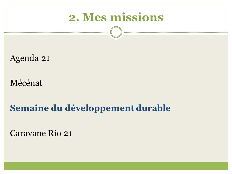 2.Mes missions 2.3.