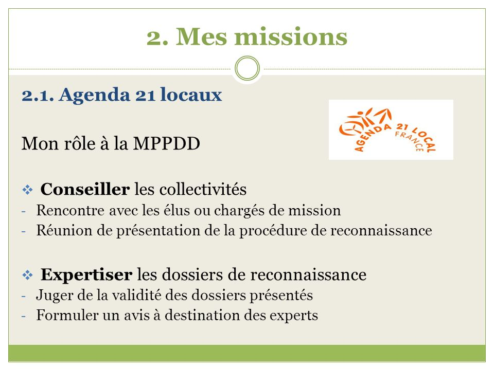 2.Mes missions 2.1.