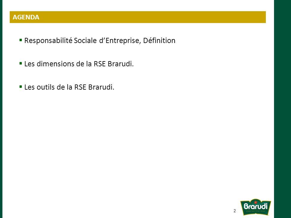 Responsabilité Sociale dEntreprise, Définition Les dimensions de la RSE Brarudi.