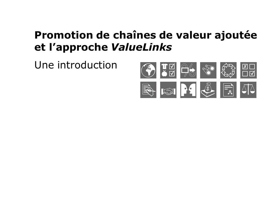 Promotion de chaînes de valeur ajoutée et lapproche ValueLinks Une introduction