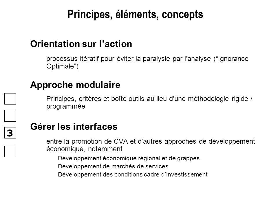 Orientation sur laction processus itératif pour éviter la paralysie par lanalyse (Ignorance Optimale) Approche modulaire Principes, critères et boîte