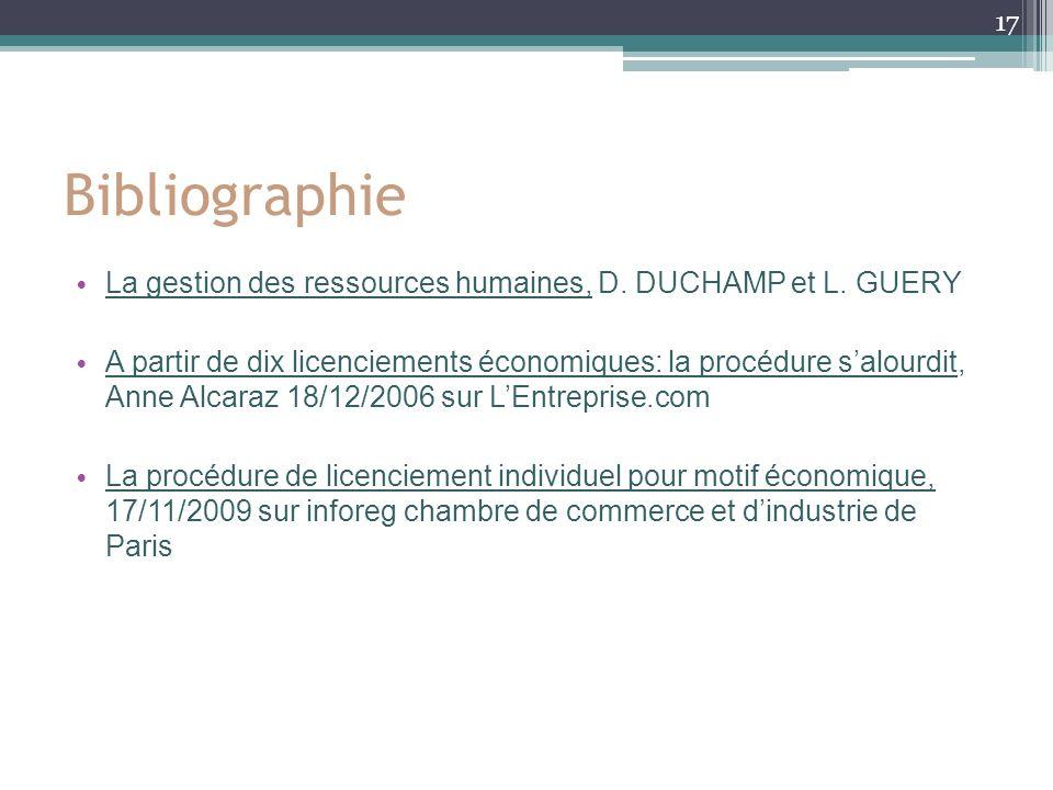 Bibliographie La gestion des ressources humaines, D.