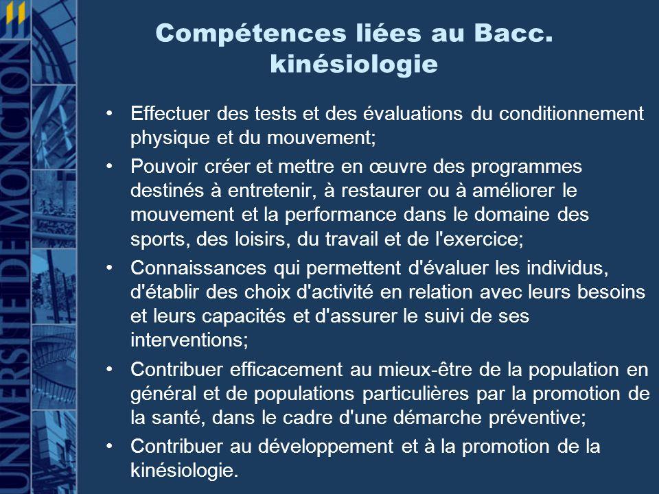 Compétences liées au Bacc.