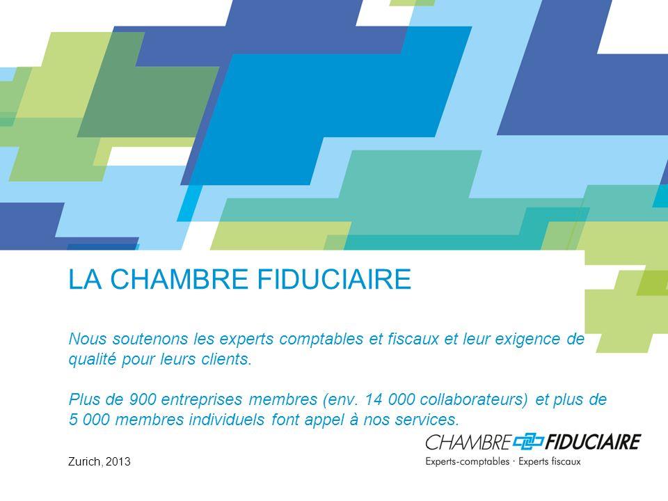 La Chambre fiduciaire (CF) © Chambre fiduciaire, 2013 Grande représentativité: Bien plus des deux tiers de la performance économique suisse est fournie par des entreprises qui sont suivies par nos membres.