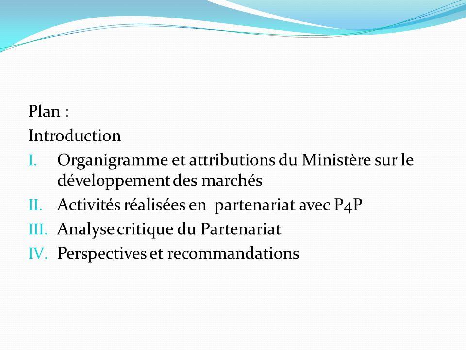 Introduction Définition et objectif du P4P DDMPA comme partenaire gouvernementale du P4P Nécessité de faire le point sur le Partenariat