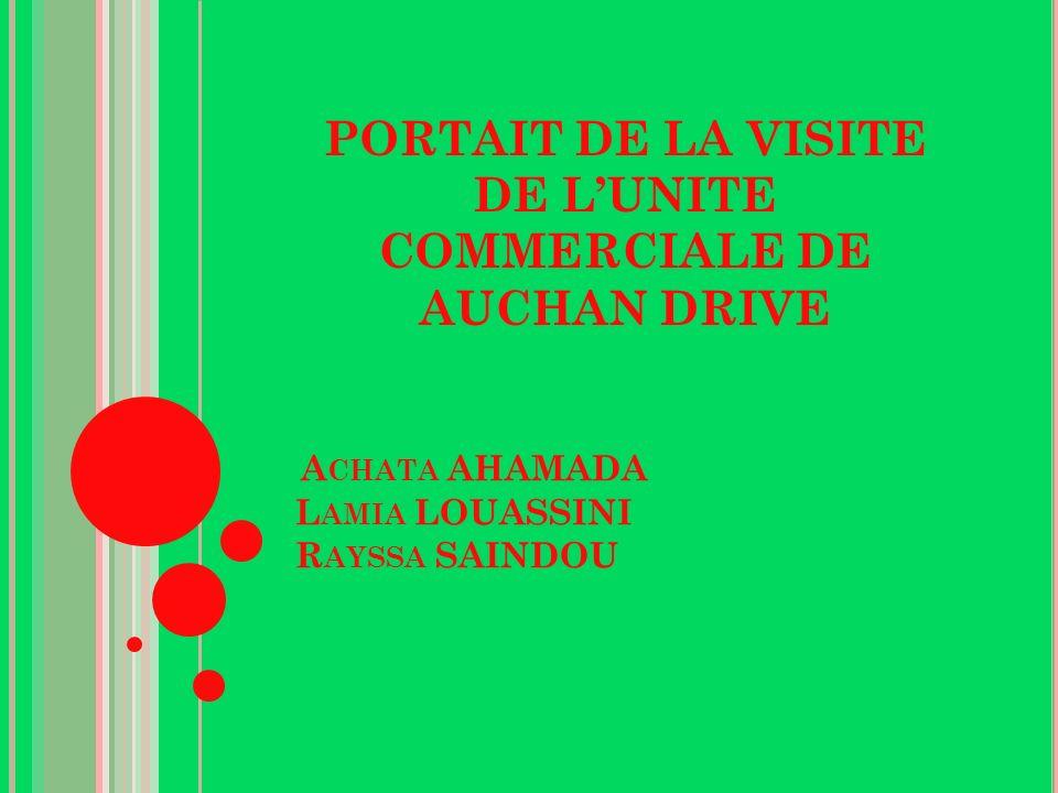 A CHATA AHAMADA L AMIA LOUASSINI R AYSSA SAINDOU PORTAIT DE LA VISITE DE LUNITE COMMERCIALE DE AUCHAN DRIVE