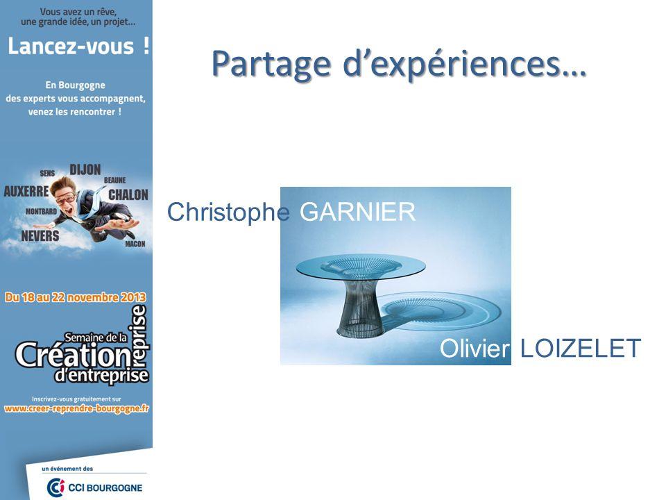 Partage dexpériences… Christophe GARNIER Olivier LOIZELET