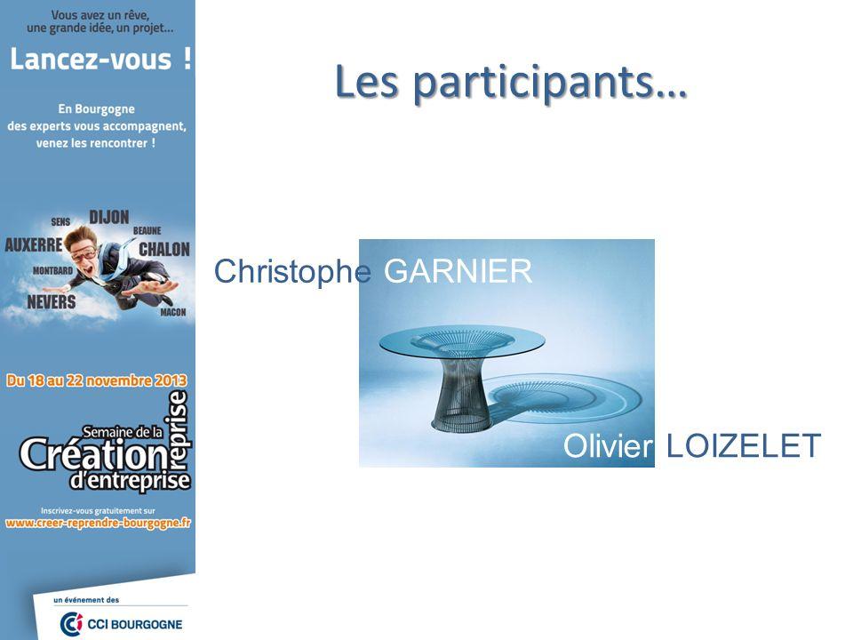 Les participants… Christophe GARNIER Olivier LOIZELET