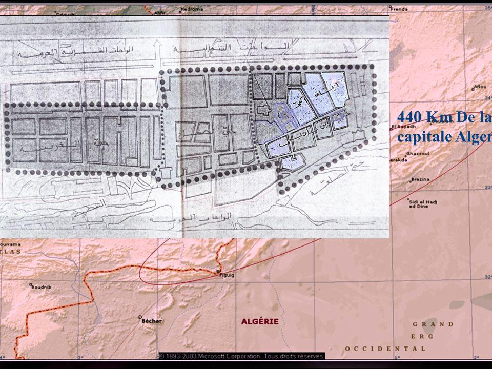 2 440 Km De la capitale Alger