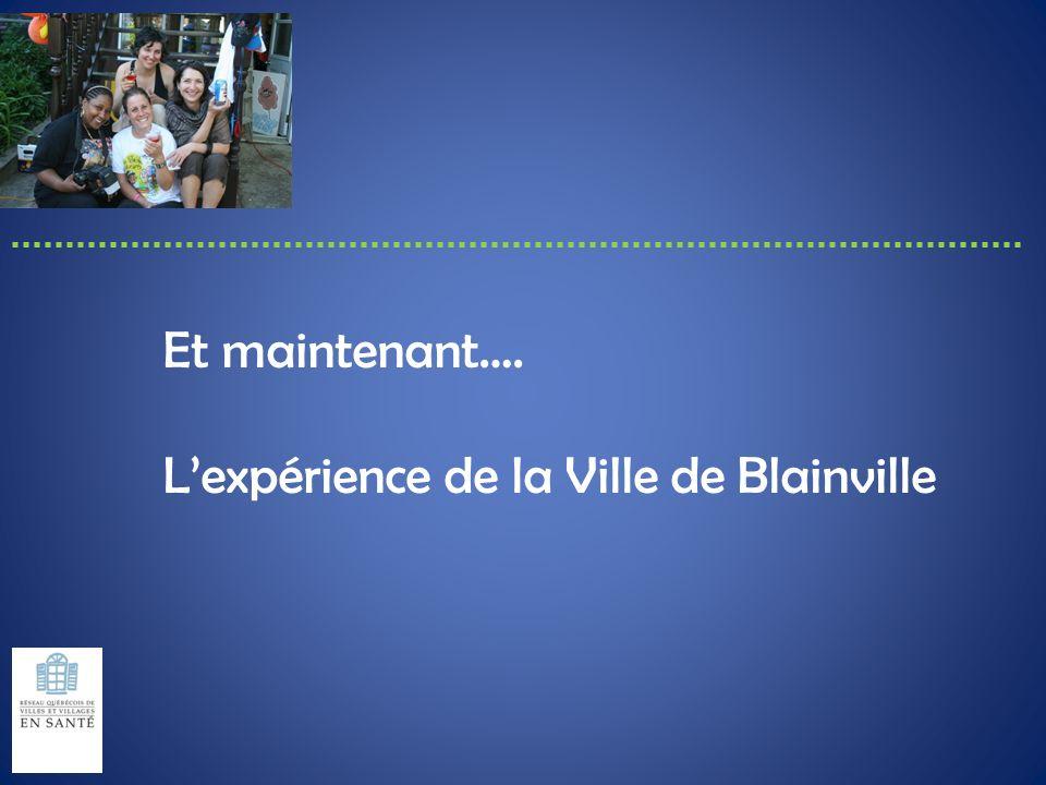 Et maintenant…. Lexpérience de la Ville de Blainville