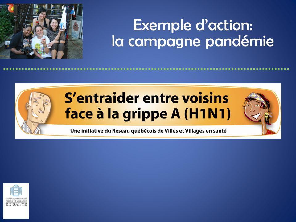 Exemple daction: la campagne pandémie