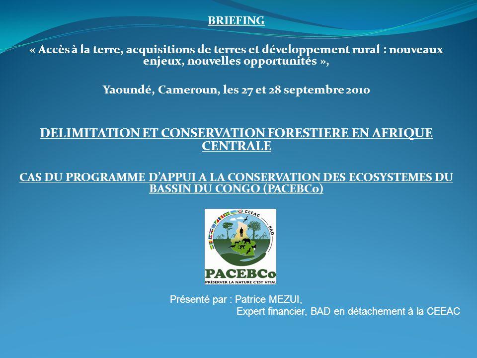 BRIEFING « Accès à la terre, acquisitions de terres et développement rural : nouveaux enjeux, nouvelles opportunités », Yaoundé, Cameroun, les 27 et 2