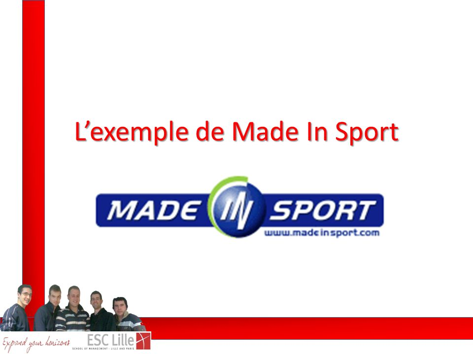 Lexemple de Made In Sport