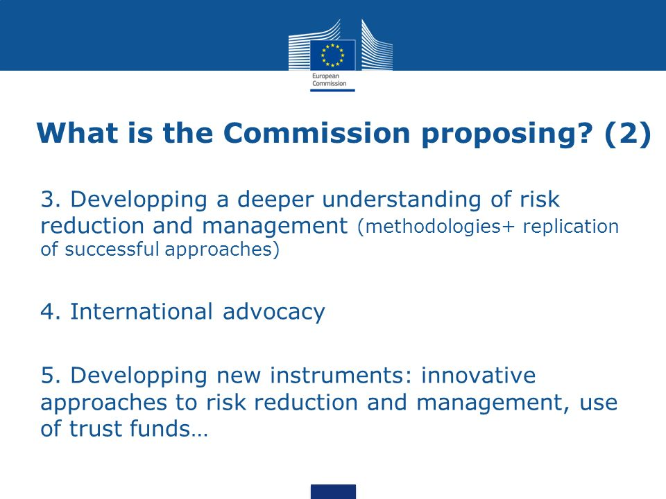 What is the Commission proposing.(2) 3.