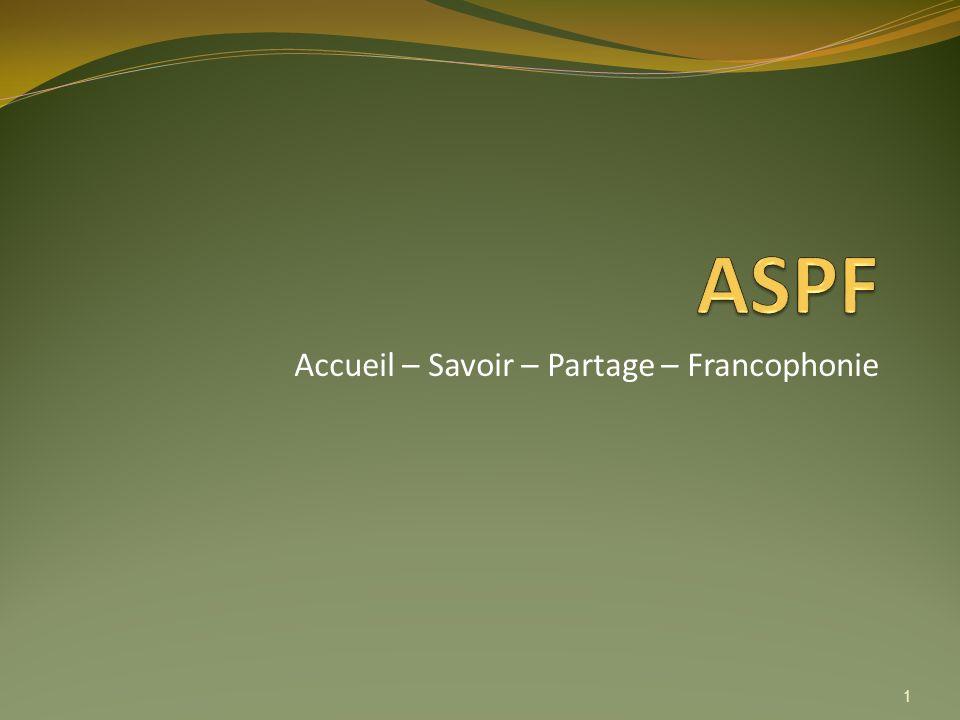 Accueil – Savoir – Partage – Francophonie 1