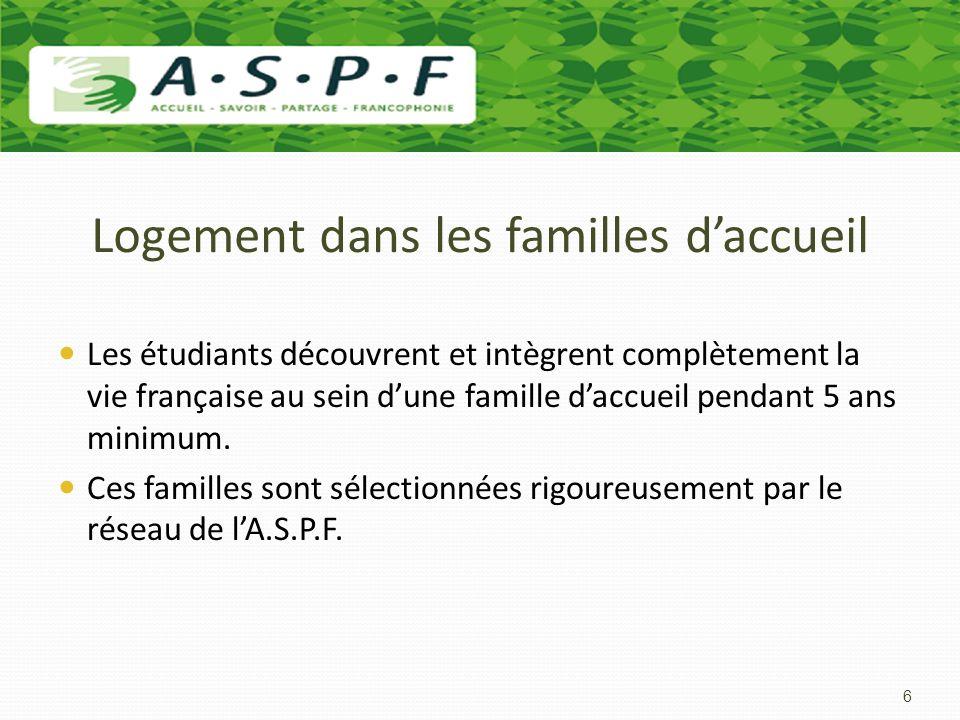 Logement dans les familles daccueil Les étudiants découvrent et intègrent complètement la vie française au sein dune famille daccueil pendant 5 ans mi