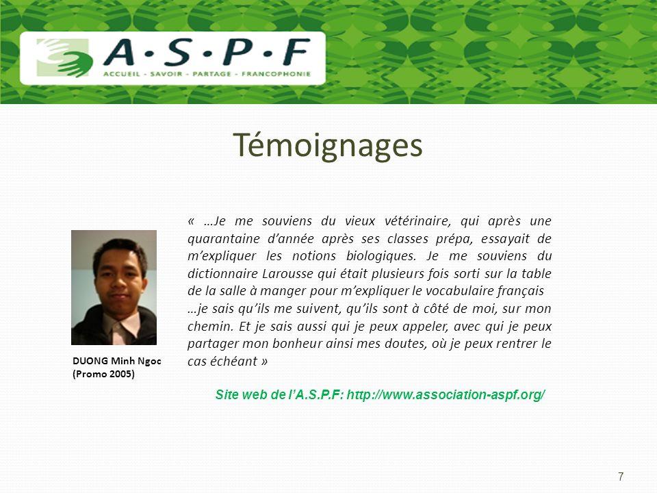 Les formations dexcellence Pour ces jeunes, lA.S.P.F ouvre la porte de la classe préparatoire BCPST (Biologie, Chimie, Physique et Sciences de la Terre) dans les lycées les plus prestigieux de France.