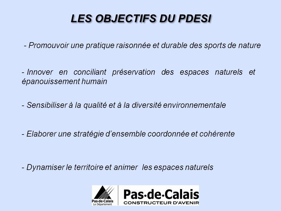 LES OBJECTIFS DU PDESI - Promouvoir une pratique raisonnée et durable des sports de nature - Innover en conciliant préservation des espaces naturels e