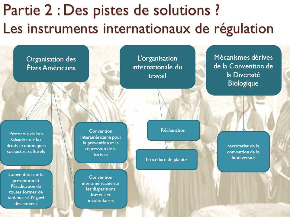 Lorganisation internationale du travail Mécanismes dérivés de la Convention de la Diversité Biologique Réclamation Procédure de plainte Organisation d
