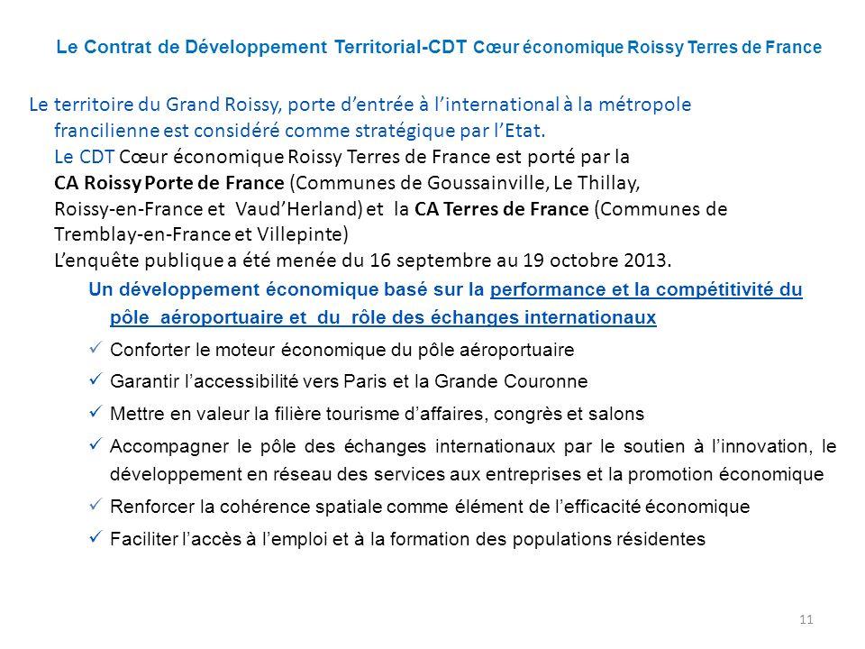 Le Contrat de Développement Territorial-CDT Cœur économique Roissy Terres de France Le territoire du Grand Roissy, porte dentrée à linternational à la