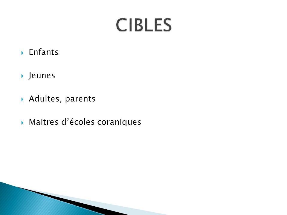 Enfants Jeunes Adultes, parents Maitres décoles coraniques