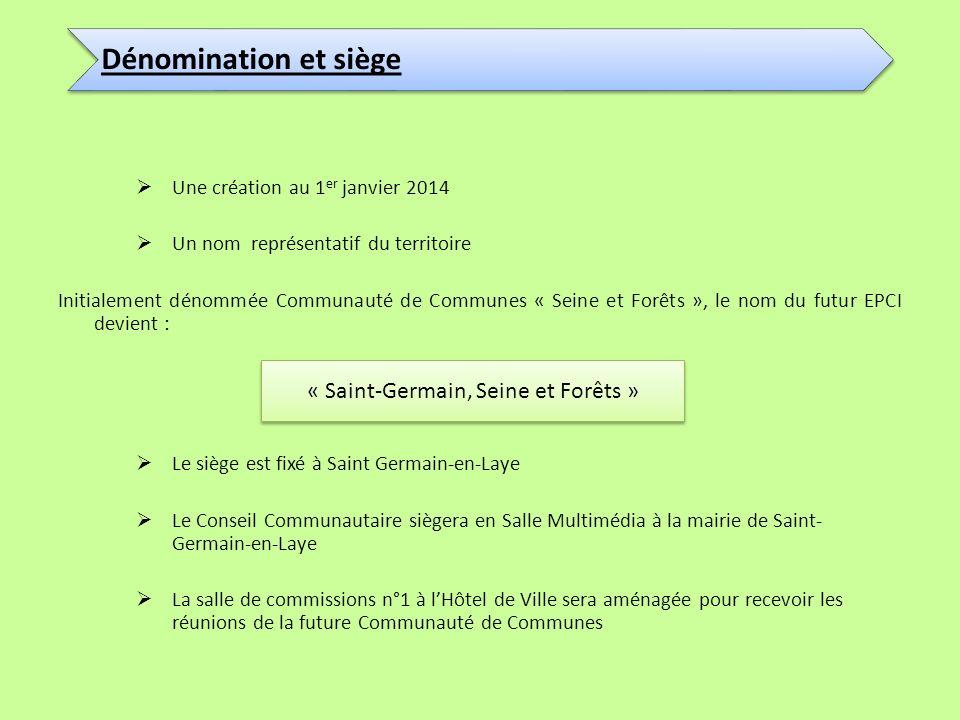 Dénomination et siège Une création au 1 er janvier 2014 Un nom représentatif du territoire Initialement dénommée Communauté de Communes « Seine et For