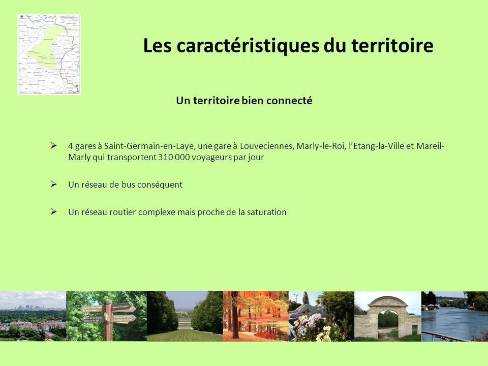 Un territoire bien connecté 4 gares à Saint-Germain-en-Laye, une gare à Louveciennes, Marly-le-Roi, lEtang-la-Ville et Mareil- Marly qui transportent