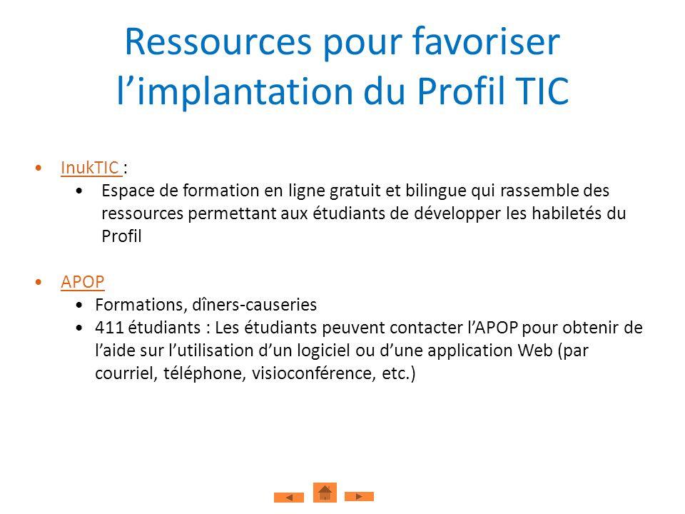 InukTIC :InukTIC Espace de formation en ligne gratuit et bilingue qui rassemble des ressources permettant aux étudiants de développer les habiletés du