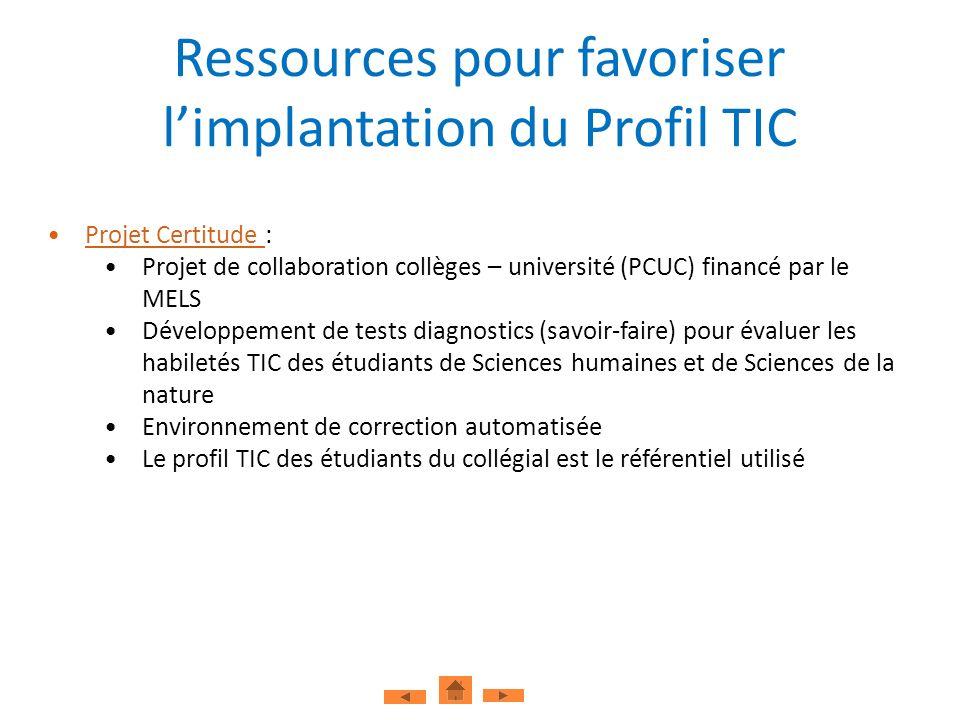 Projet Certitude :Projet Certitude Projet de collaboration collèges – université (PCUC) financé par le MELS Développement de tests diagnostics (savoir