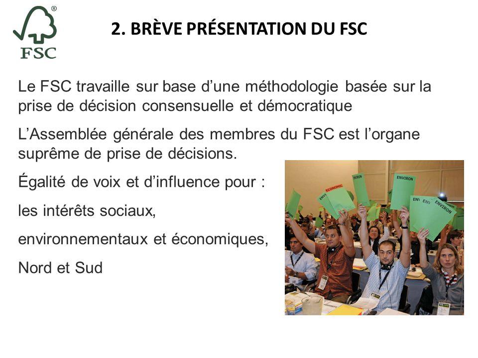 Le FSC travaille sur base dune méthodologie basée sur la prise de décision consensuelle et démocratique LAssemblée générale des membres du FSC est lor