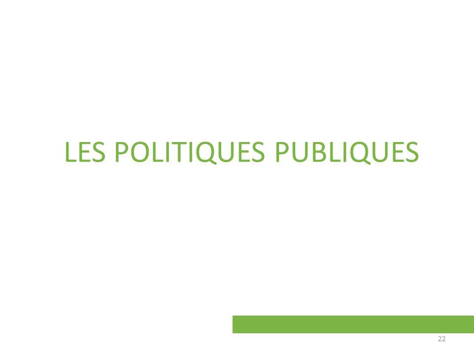 LES POLITIQUES PUBLIQUES 22