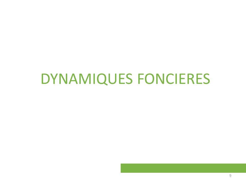 DYNAMIQUES FONCIERES 9
