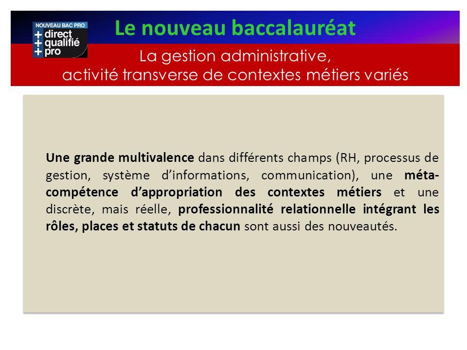 Une grande multivalence dans différents champs (RH, processus de gestion, système dinformations, communication), une méta- compétence dappropriation d
