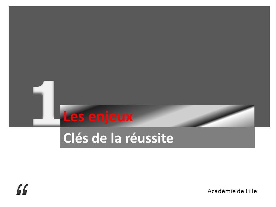 Les enjeux Clés de la réussite Académie de Lille