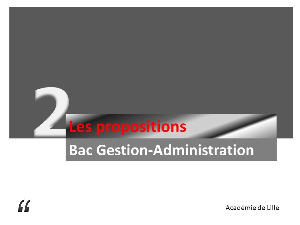 Les propositions Bac Gestion-Administration Académie de Lille