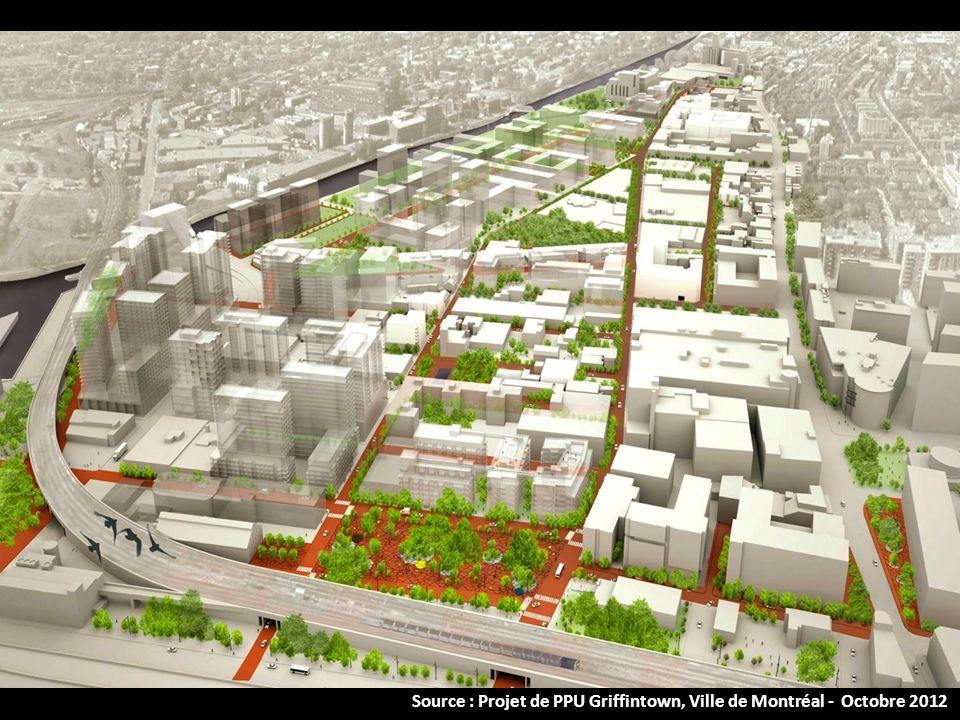 Source : Projet de PPU Griffintown, Ville de Montréal - Octobre 2012