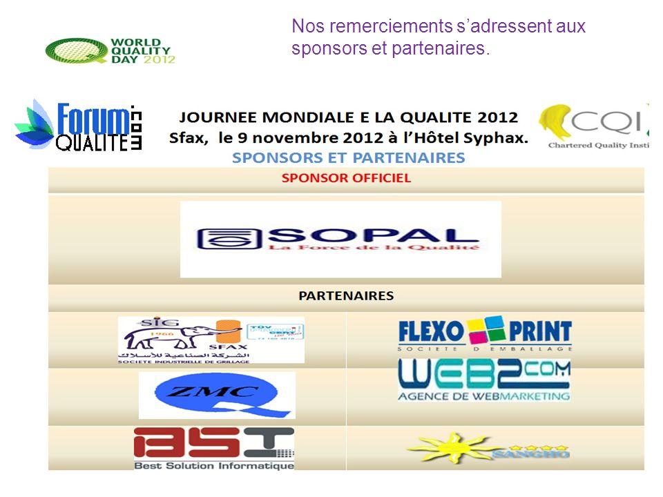 10 Nos remerciements sadressent aux sponsors et partenaires.