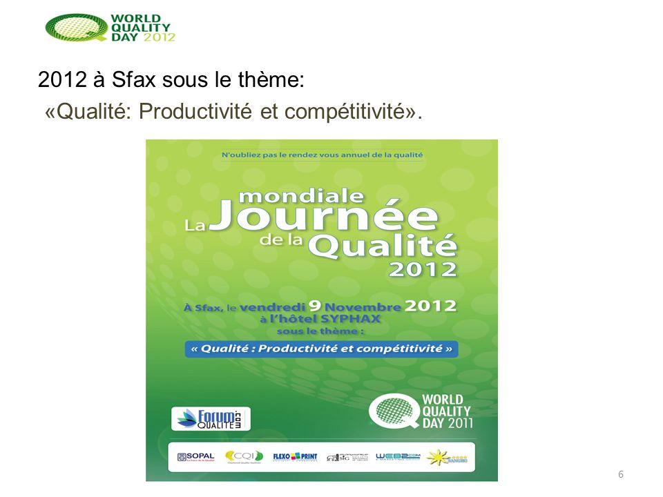 2012 à Sfax sous le thème: «Qualité: Productivité et compétitivité». 6