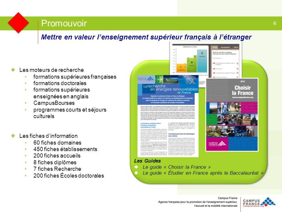 Mettre en valeur lenseignement supérieur français à létranger 6 Les moteurs de recherche formations supérieures françaises formations doctorales forma