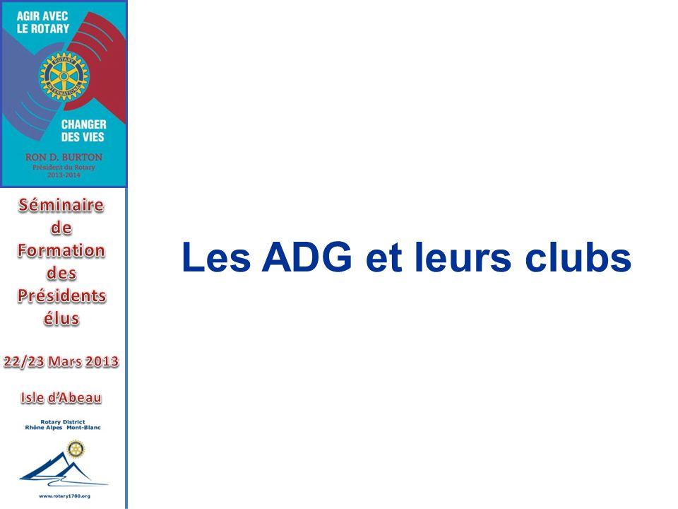 Les ADG et leurs clubs